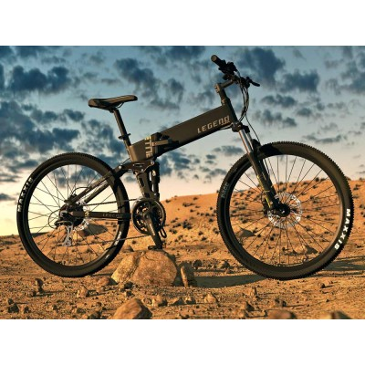 ETNA Full Suspension Electric FOLDABLE Mountain Bike - 27.5 inch - Only Foldable on the market