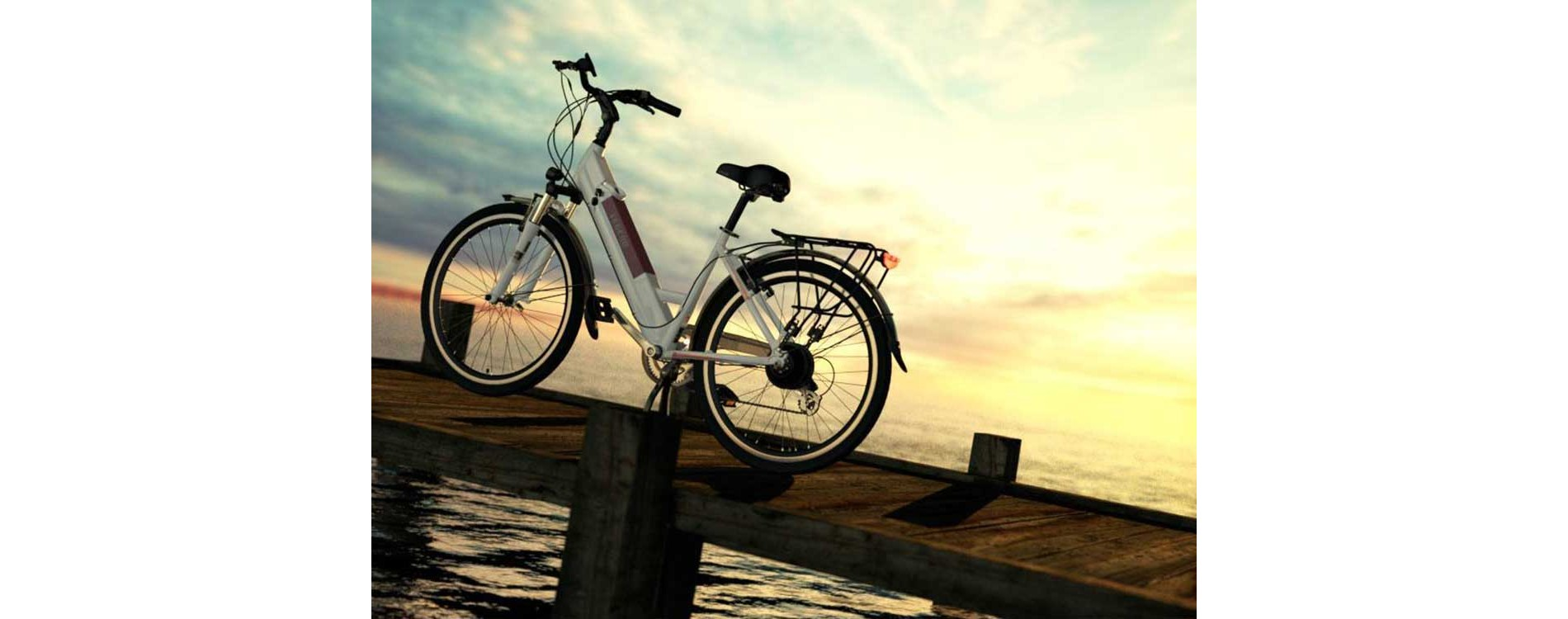 Milano Electric Bike - Artic White
