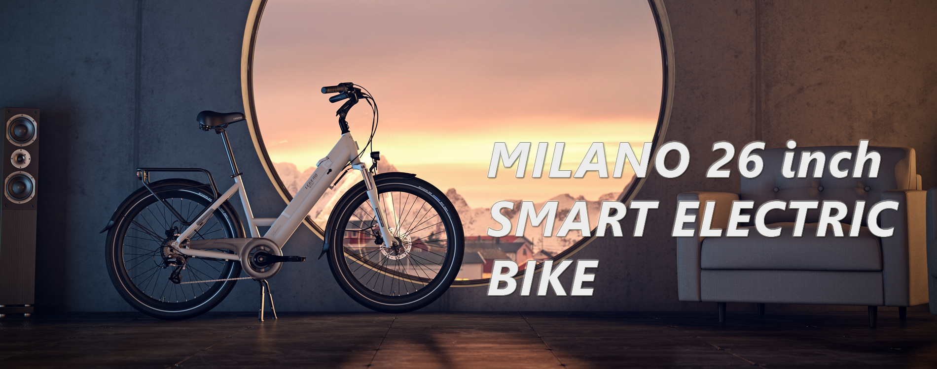 Milano Electric Bike 26 inch